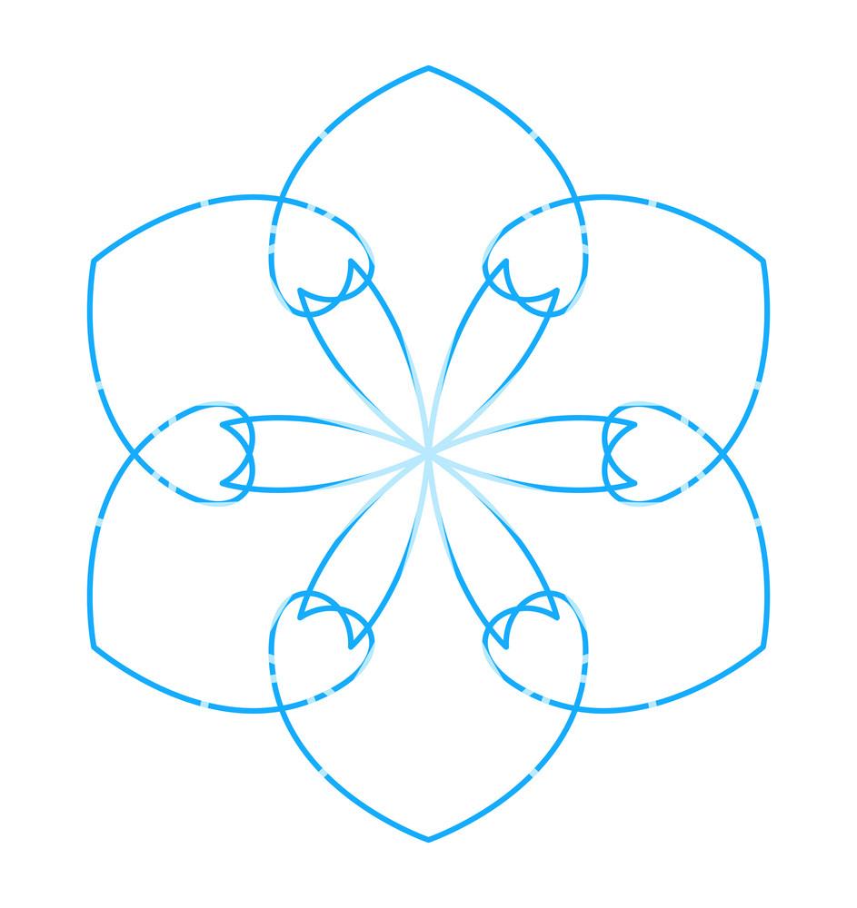 Flourish Snowflake Element