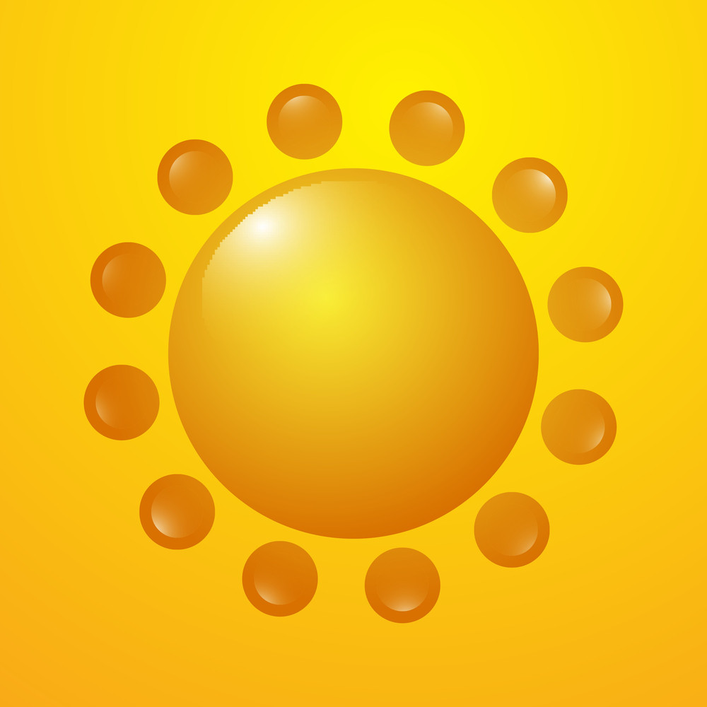 Flourish Sun Icon Vector