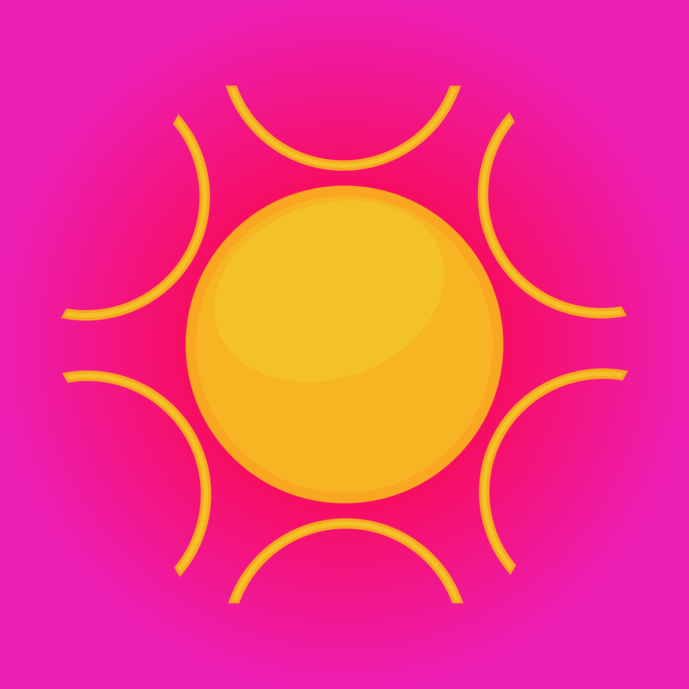 Flourish Sun Icon