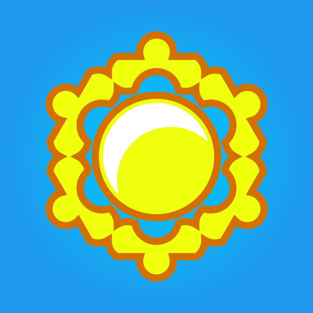 Flourish Sun Vector Design