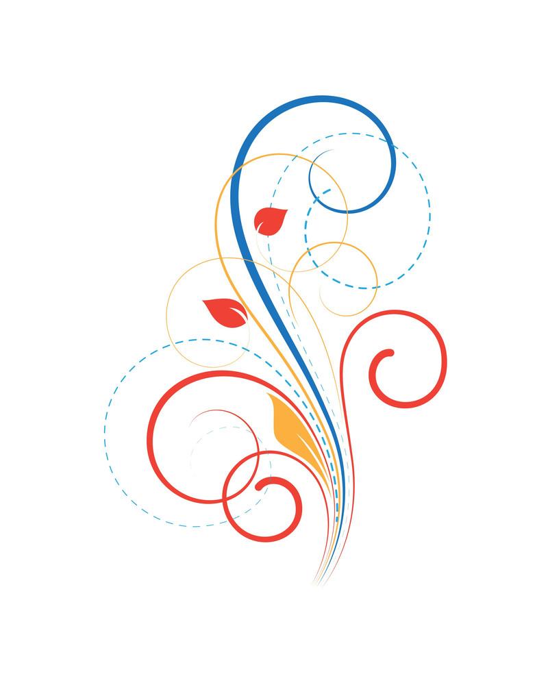 Flourish Swirl Background Vector