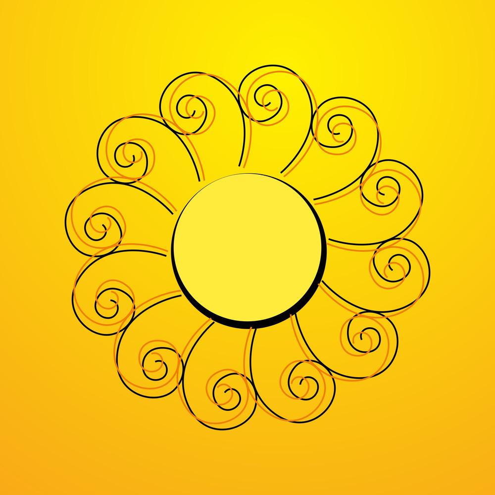 Flourish Swirl Sun Element