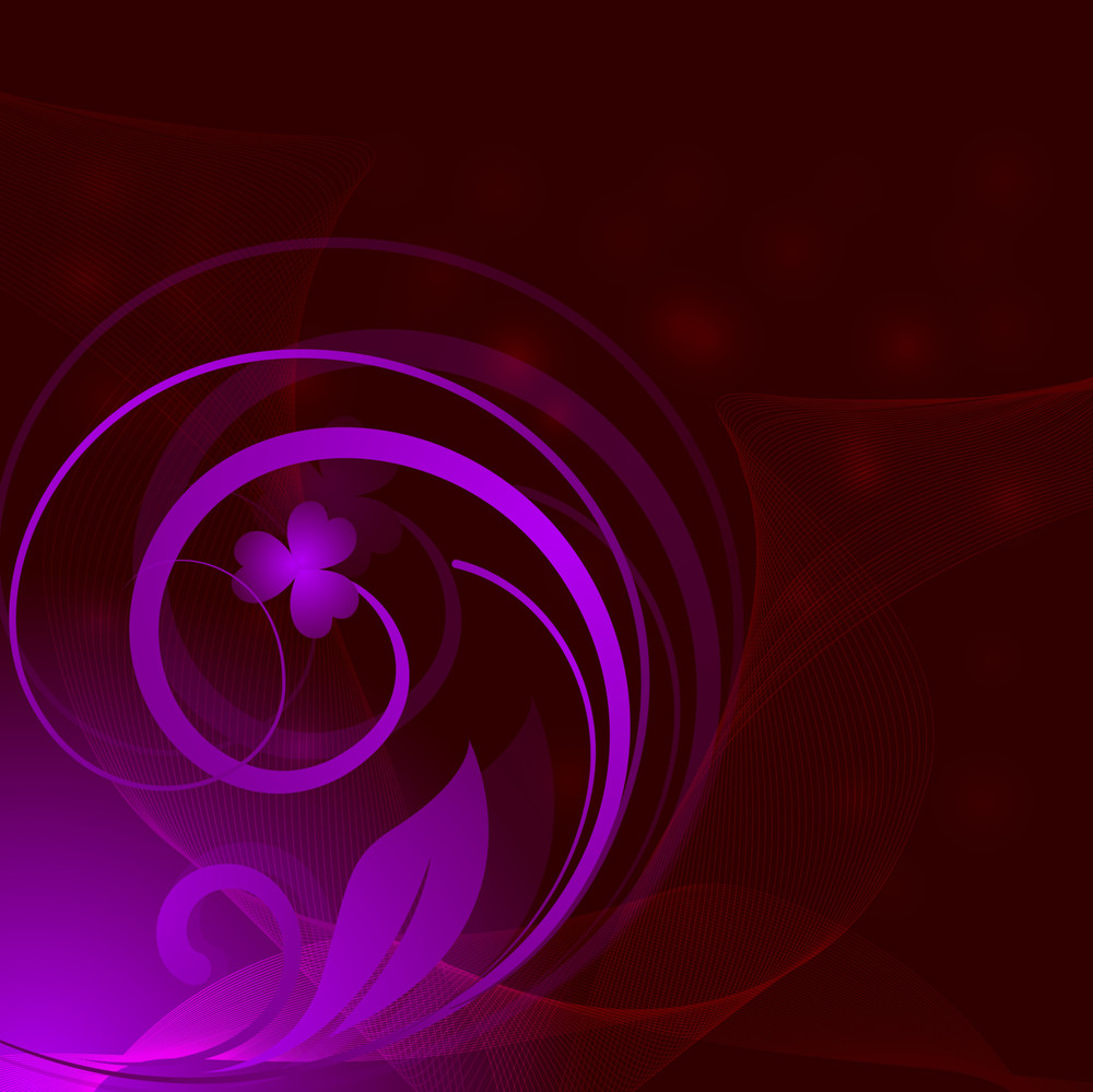 Flourish Wave Abstract Background