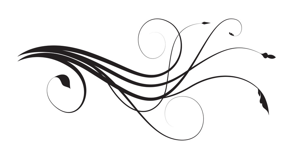 Flourish Wavy Swirl Elements