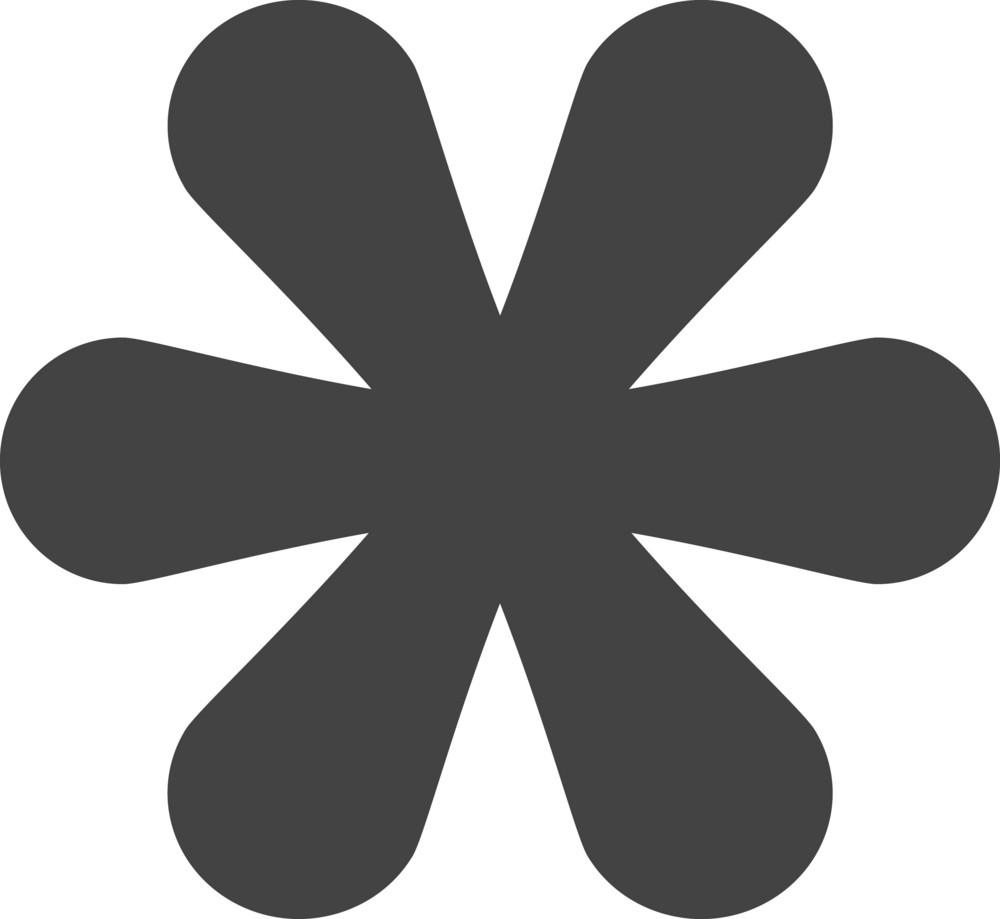 Flower 1 Glyph Icon