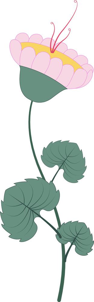Flower Leaves Twig Vector