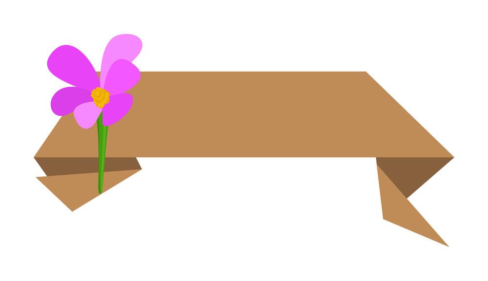 Flower Paper Speech Bubble