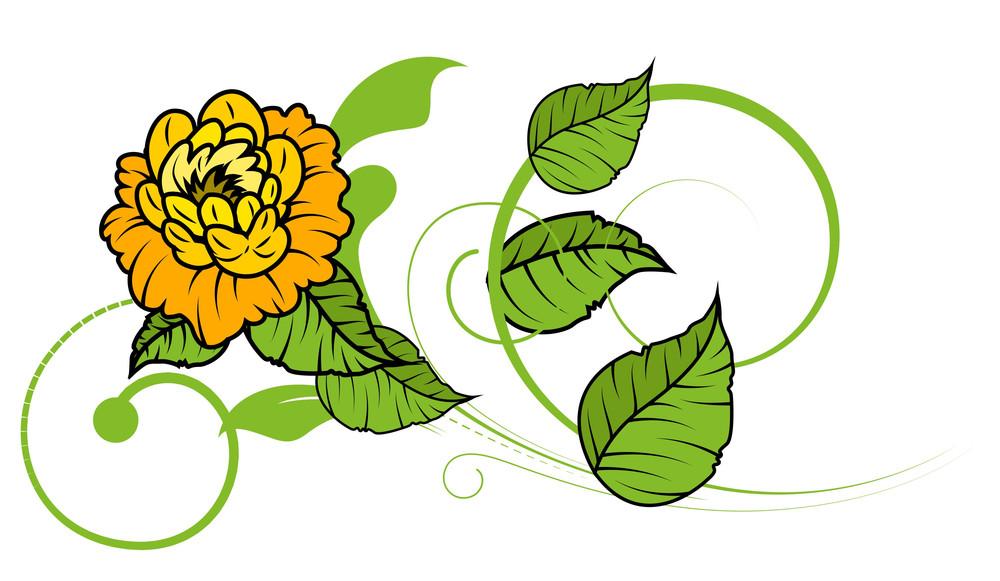 Flower Swirl Vector Design