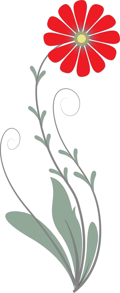 Flower Vector Element