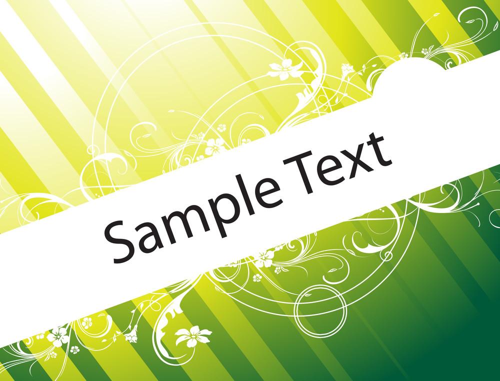 Flower Vector Wallpaper Of Sample Text In Green Gradient