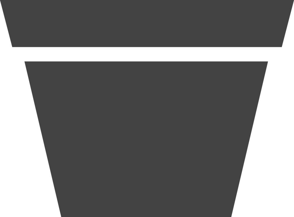 Flowerpot Glyph Icon