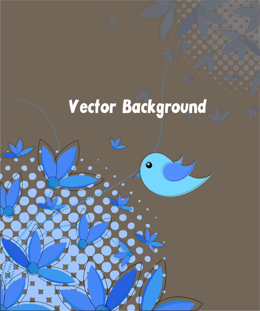 Flowers Bird Background