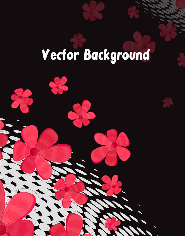 Flowers Grunge Background