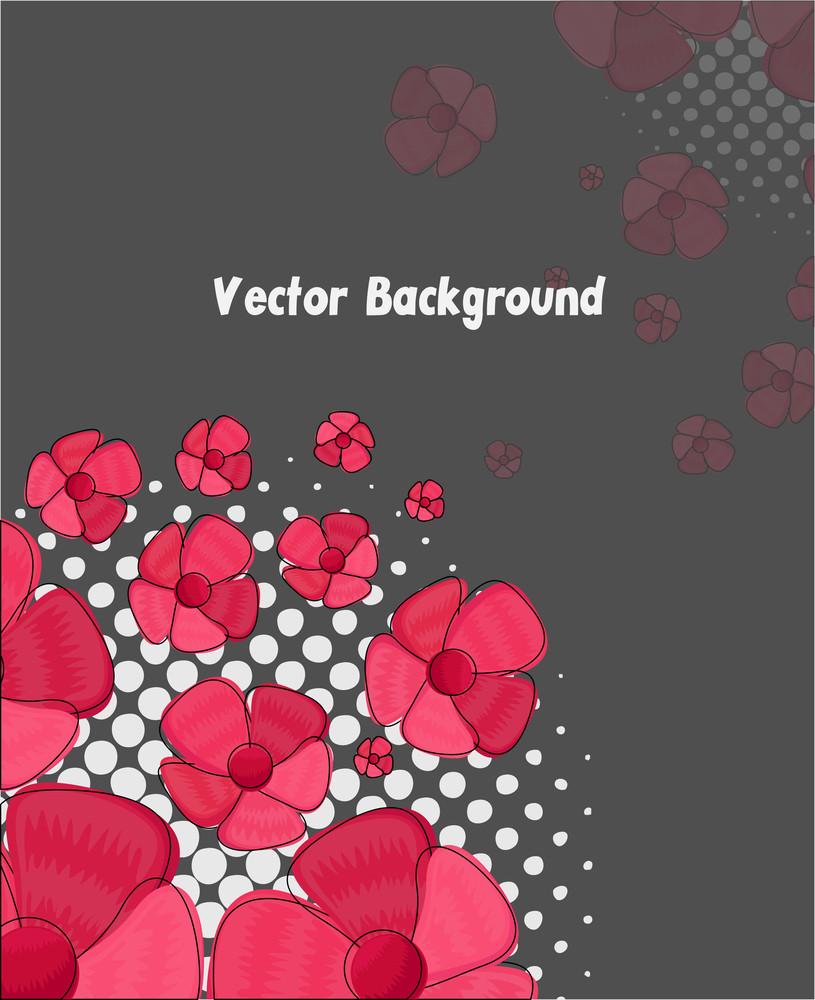 Flowers Halftone Background