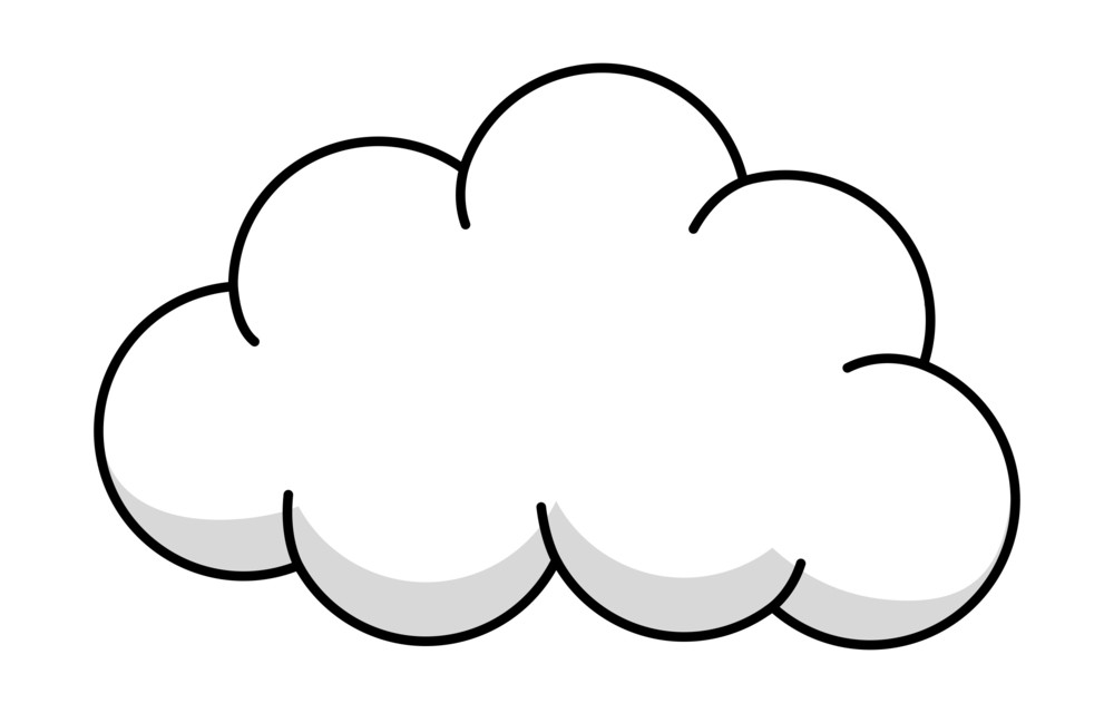 Fluffy Cloud Vector Royalty-Free Stock Image - Storyblocks