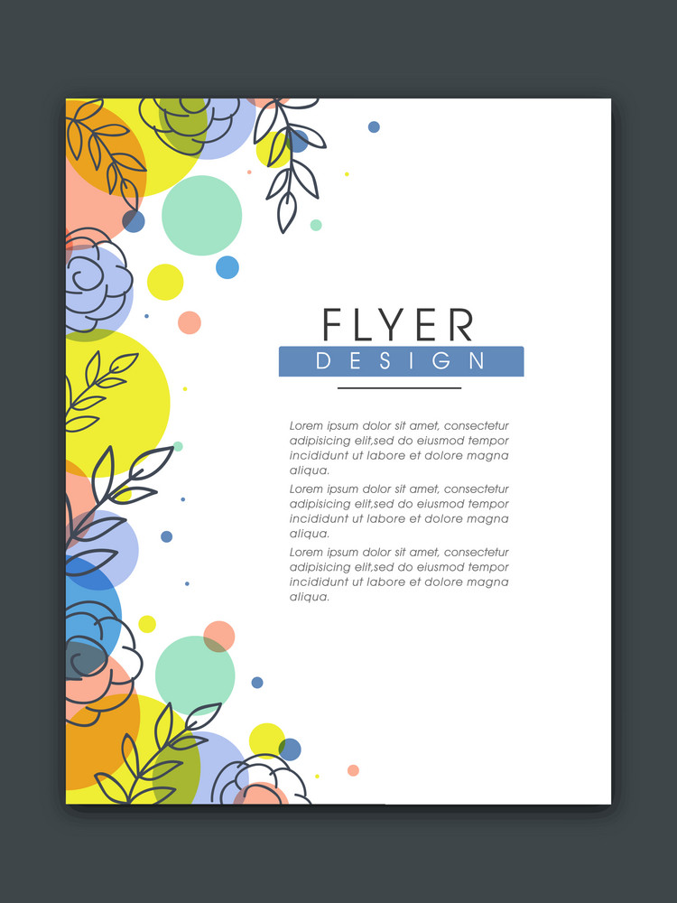 Colorful floral design decorated flyer banner or template design for your business.