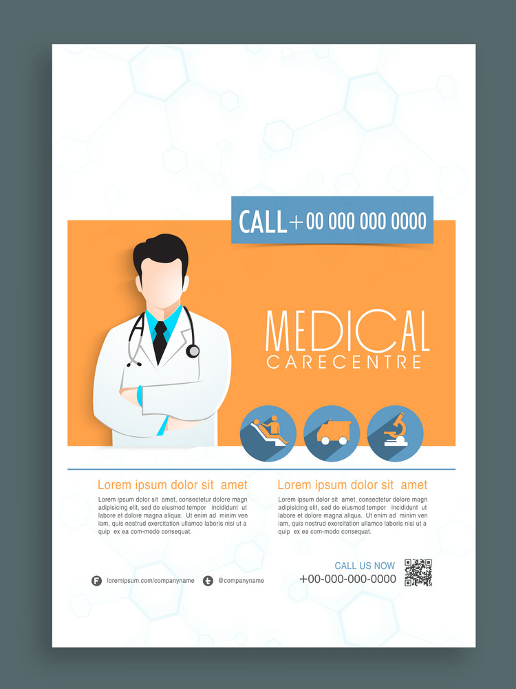 Stylish template banner or flyer design for Health and Medical.
