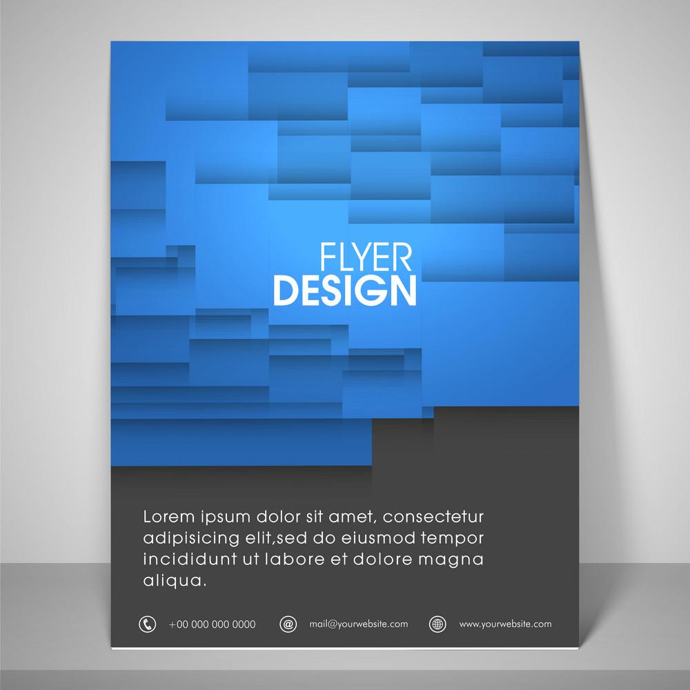 flyer design abstrato para o negócio com o suporte do lugar barra de endereços e mailer.