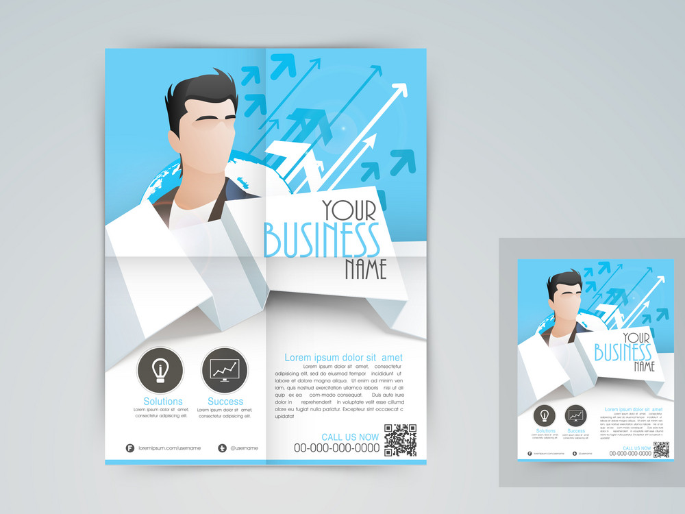 Professional business template banner or flyer design.