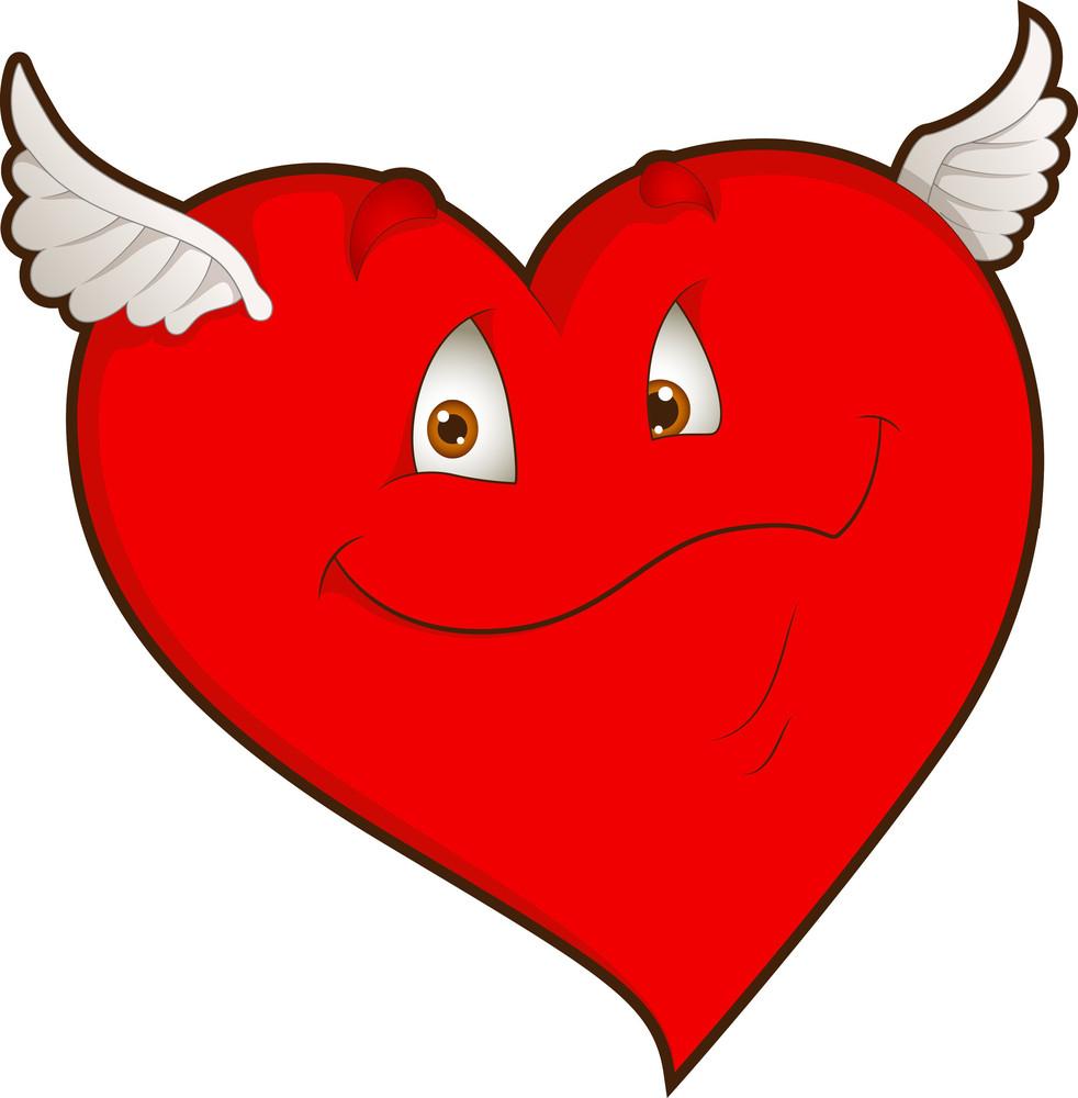 Flying Heart - Cartoon Character