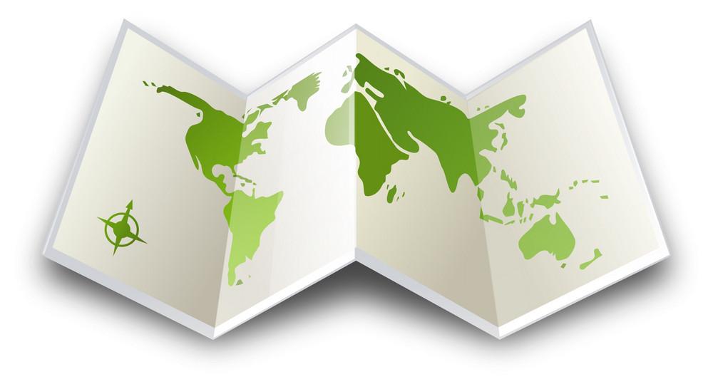 Folded Map Itravel