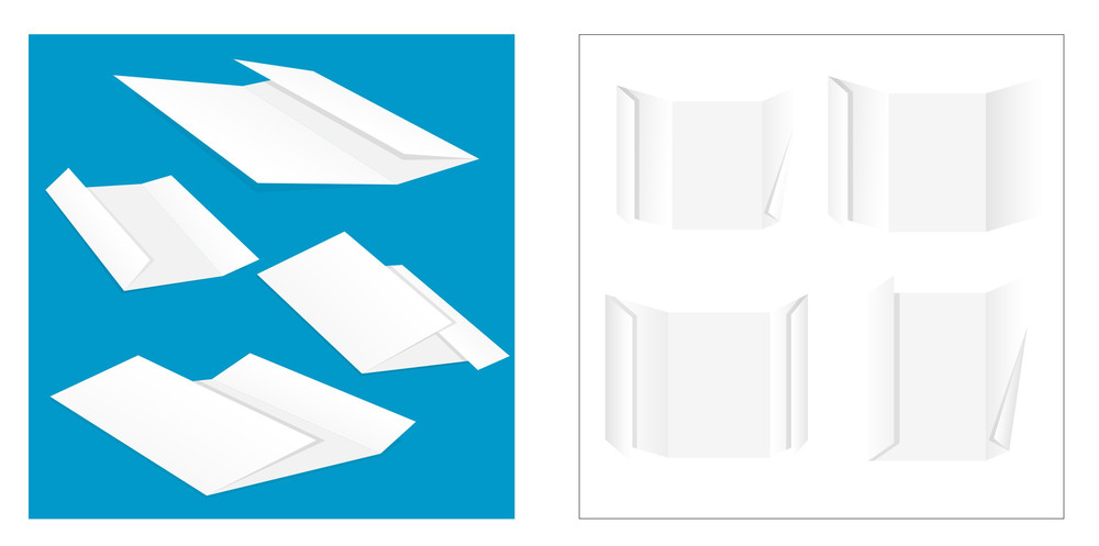 Folded Papers Vector Elements