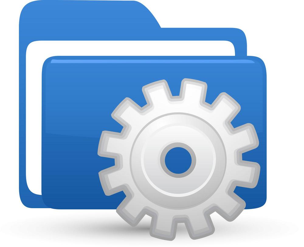 Folder Blue Setting Lite Computer Icon