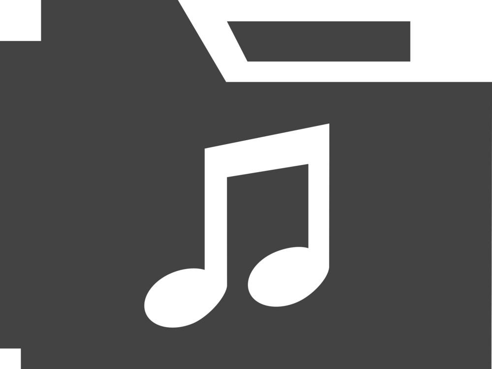 Folder Music Glyph Icon