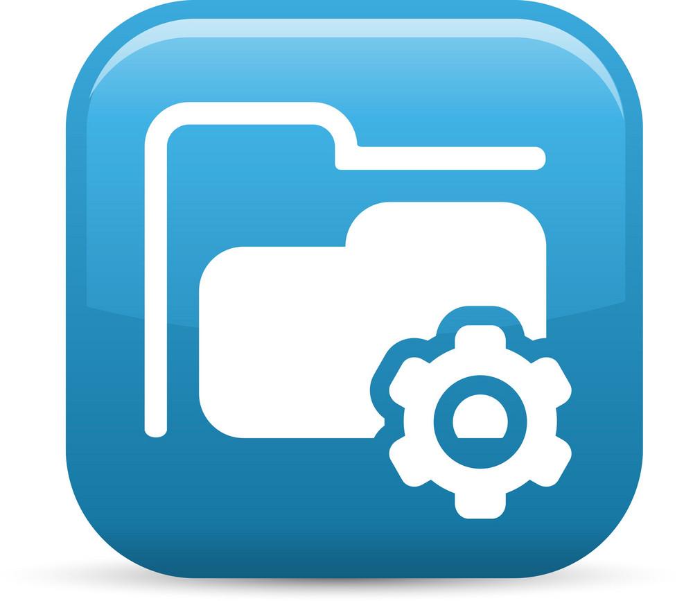 Folder Settings Elements Glossy Icon