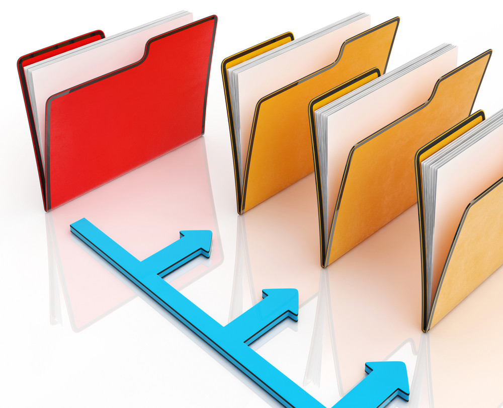 Folders Or Files Shows Correspondence And Organized