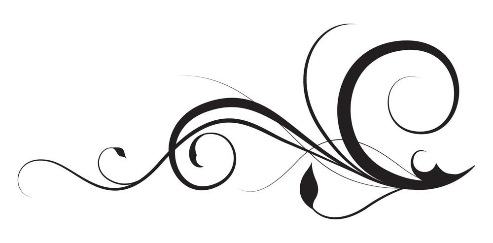 Foliage Swirl Design