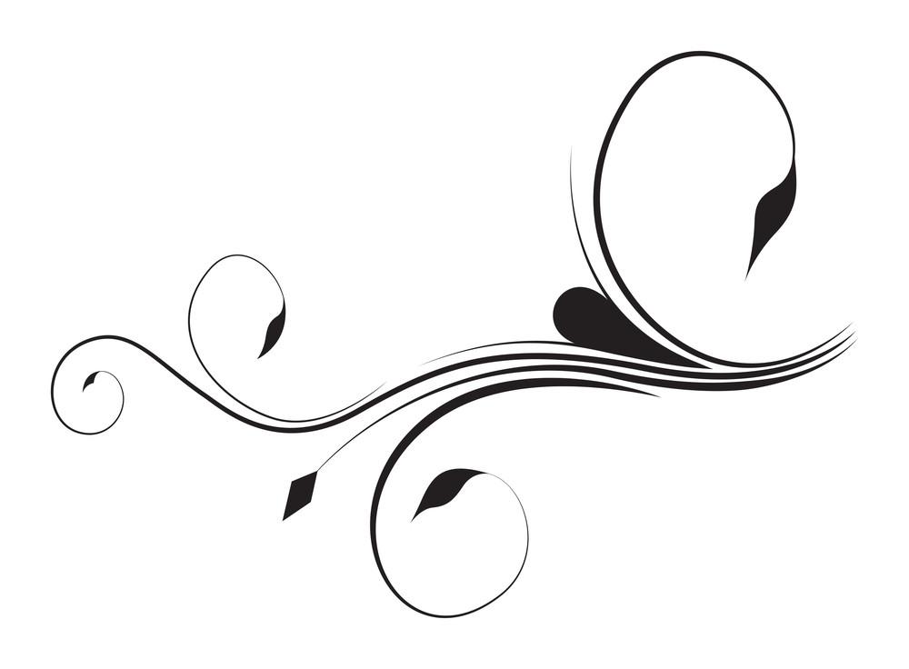 Foliage Swirl Elements Vector