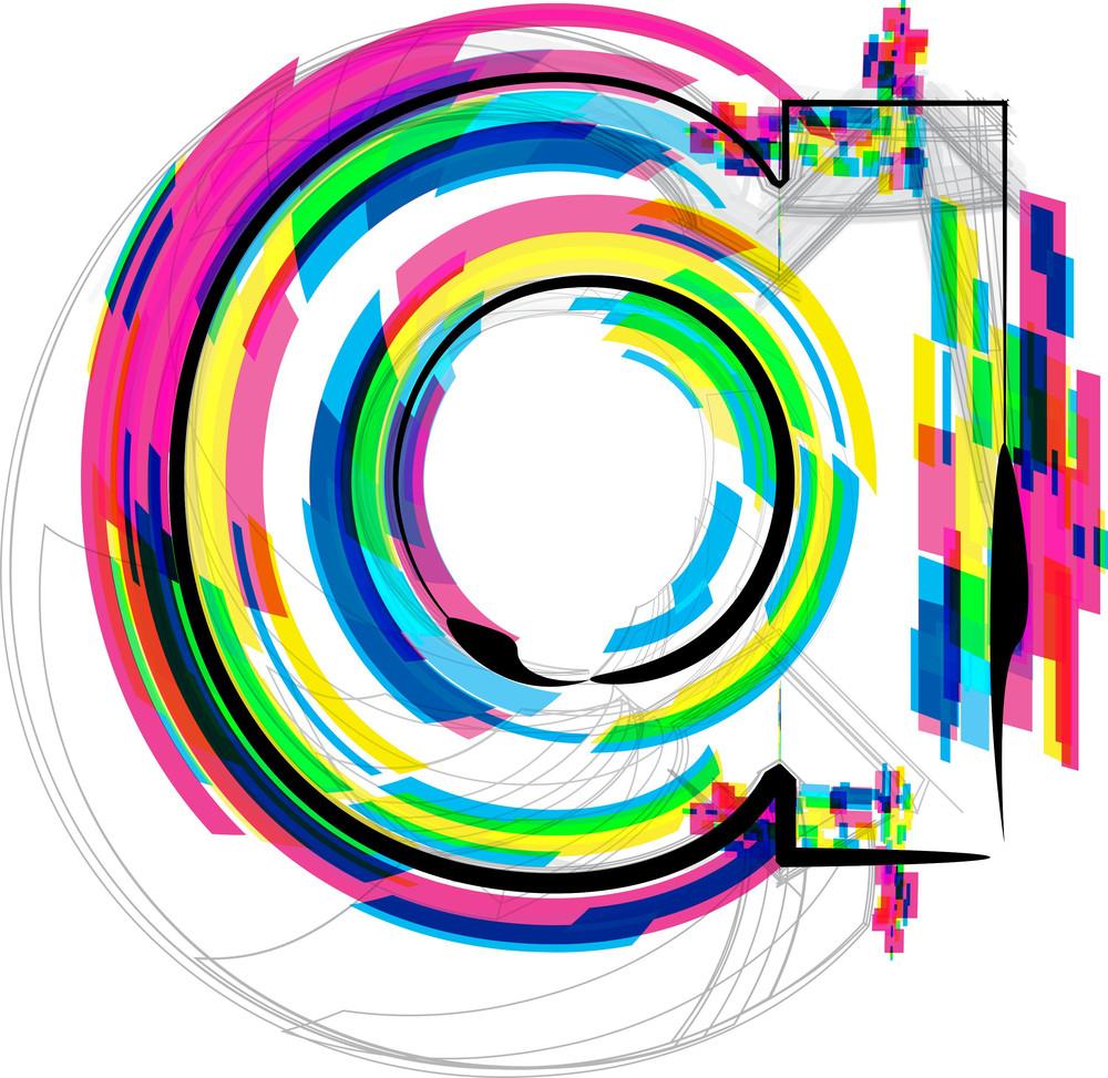 Font Illustration. Letter A. Vector Illustration