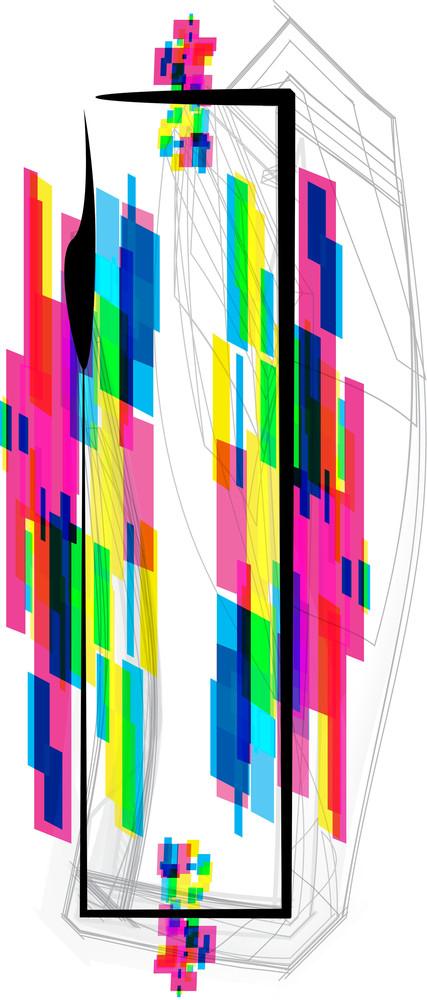 Font Illustration. Letter I. Vector Illustration