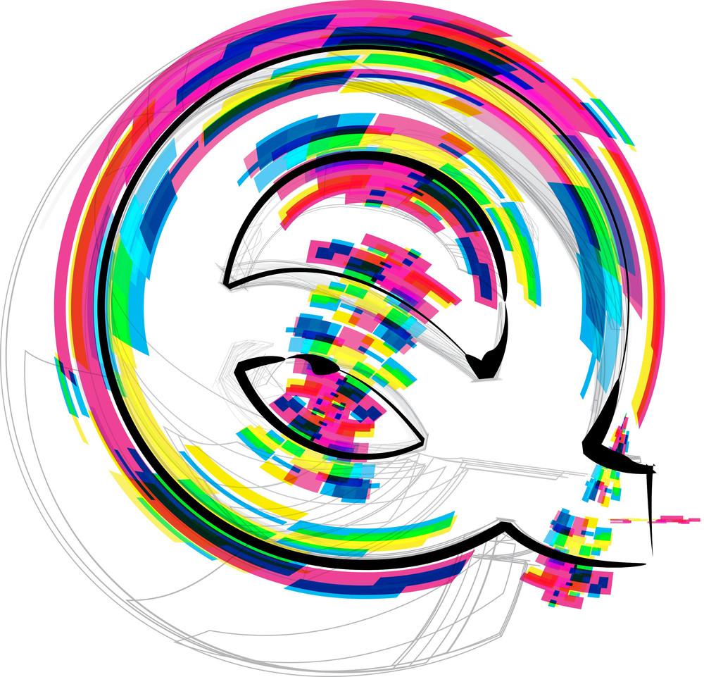 Font Illustration. Letter Q. Vector Illustration