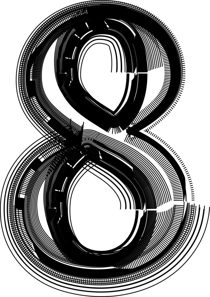 Font Illustration Number 8