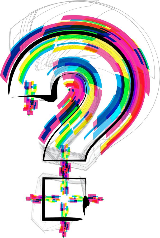 Font Illustration. Question Mark Symbol
