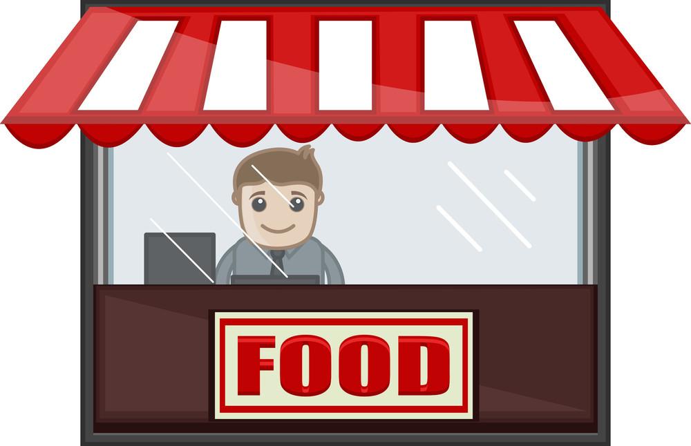 Food Shop - Cartoon Business Vector Character