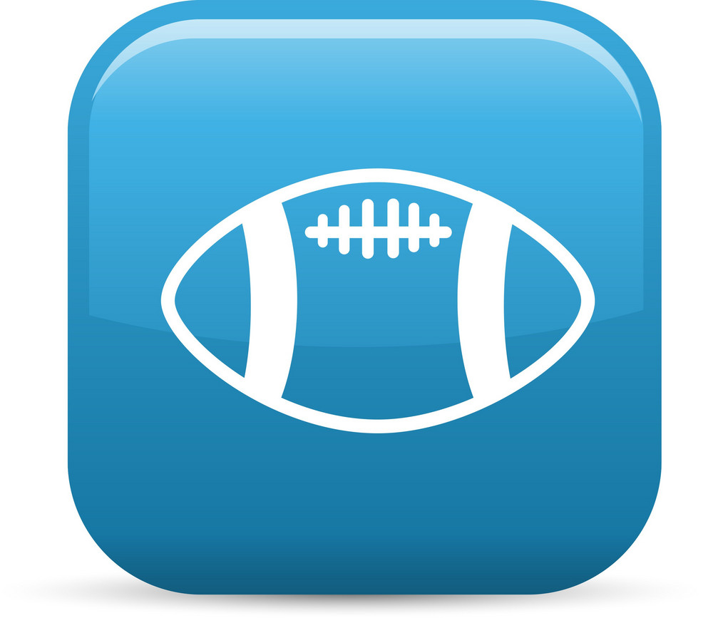 Football Sport Elements Glossy Icon