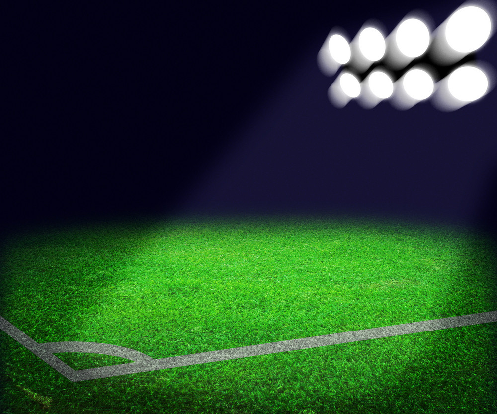 Football Stadium Spotlight Background