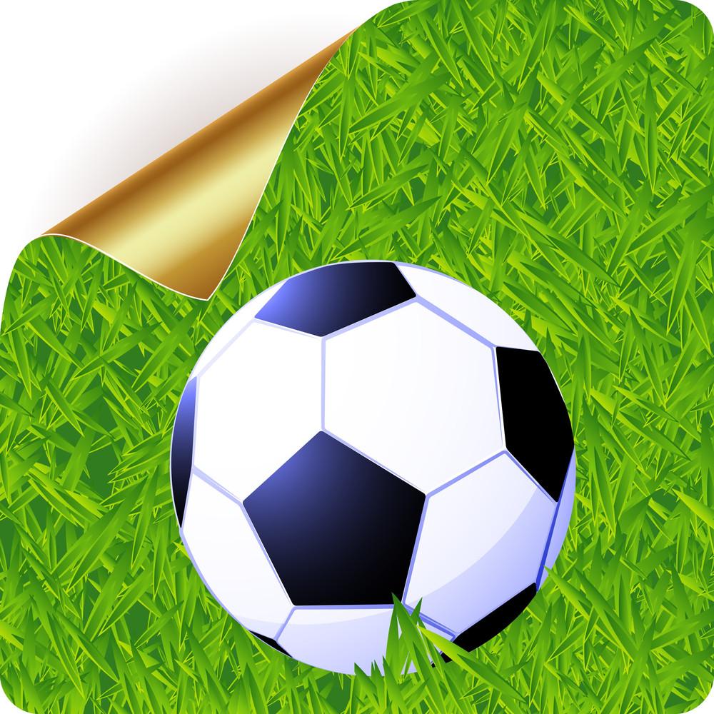 Football Sticker. Vector.