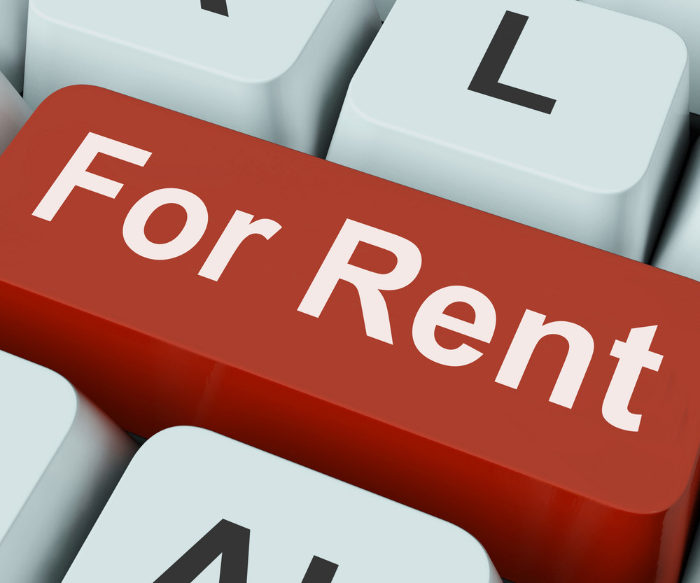 For Rent Key Means Lease Or Rental
