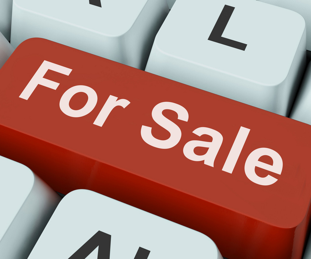 For Sale Key Means Available To Buy Or On Offer