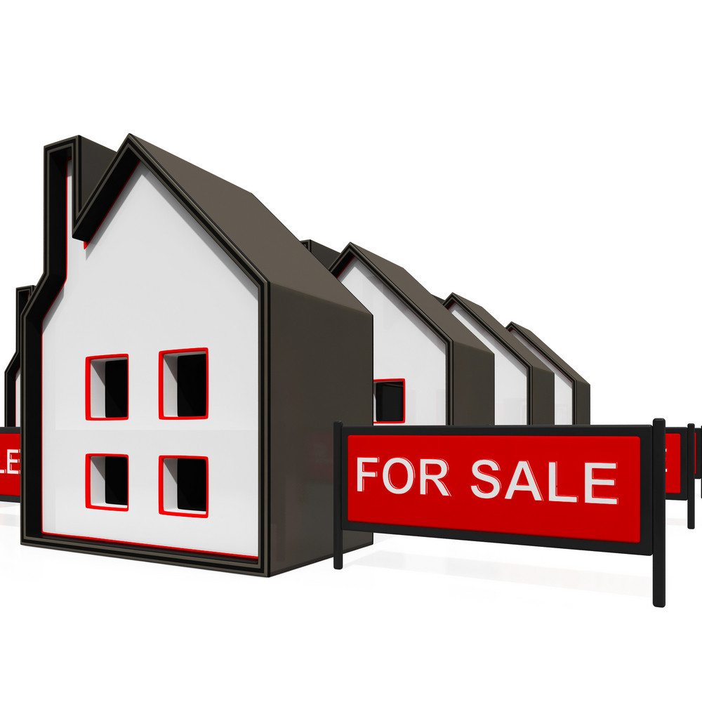 For Sale Sign On House