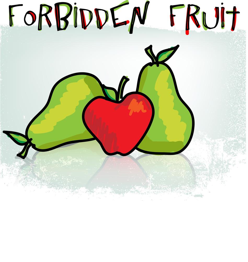 Forbidden Fruit. Vector Illustration