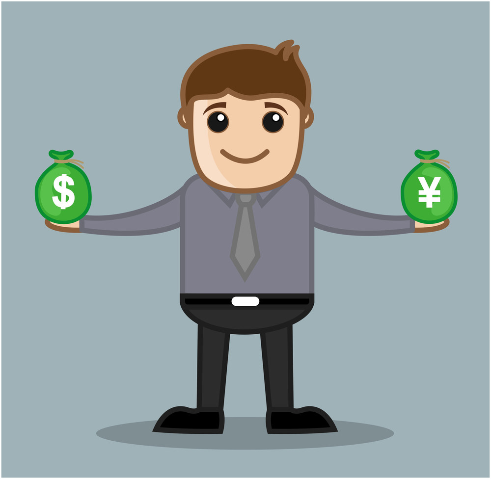 Forex - Office And Business People Cartoon Character Vector Illustration Concept