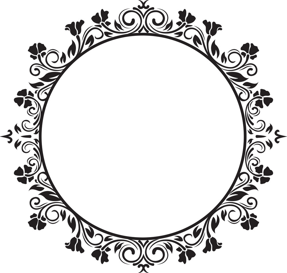 frame floral vector element royalty free stock image swirl vector art swirl vector oak tree