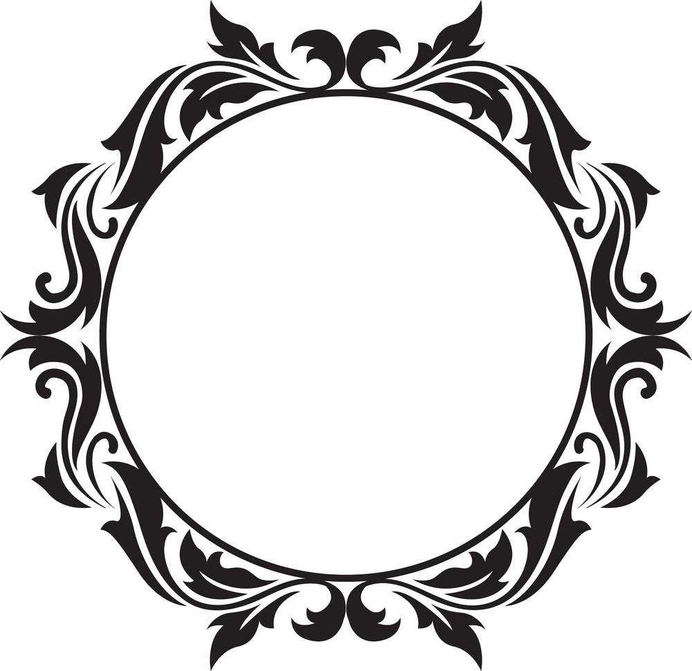 Frame Floral Vector Element