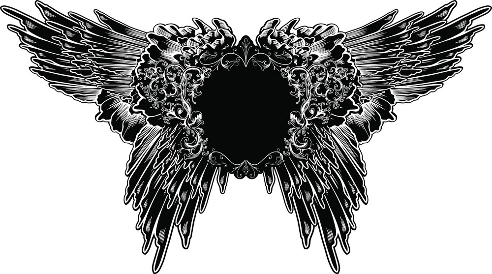 Frame With Wings Vector T-shirt Design