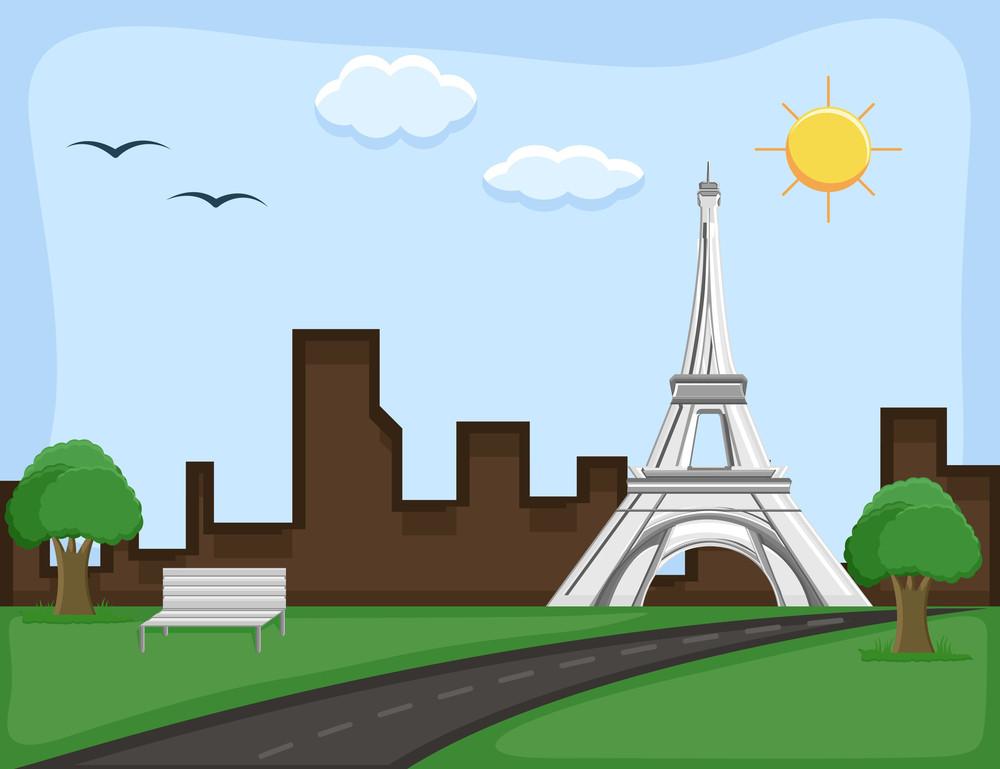 France - Cartoon Background Vector